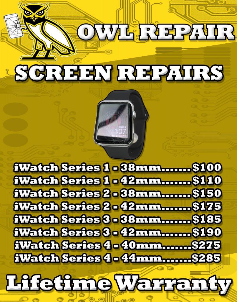 apple iwatch repairs screen repair series 1 to 4