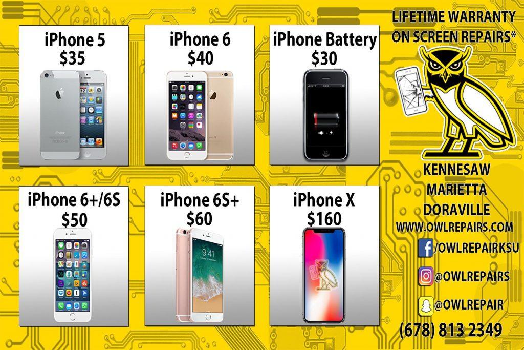 iphone screen repair banner smart phone