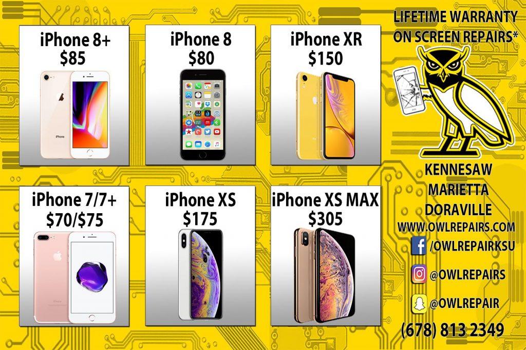 iphone x max xs xr screen repair