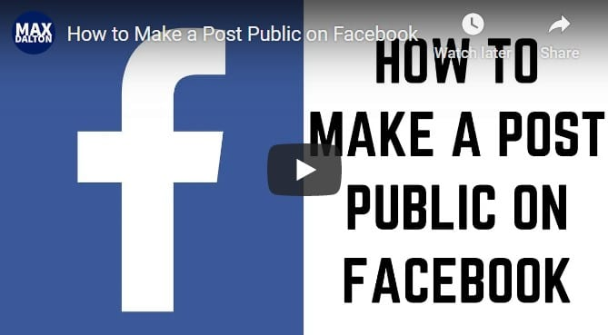 how to make a facebook post public